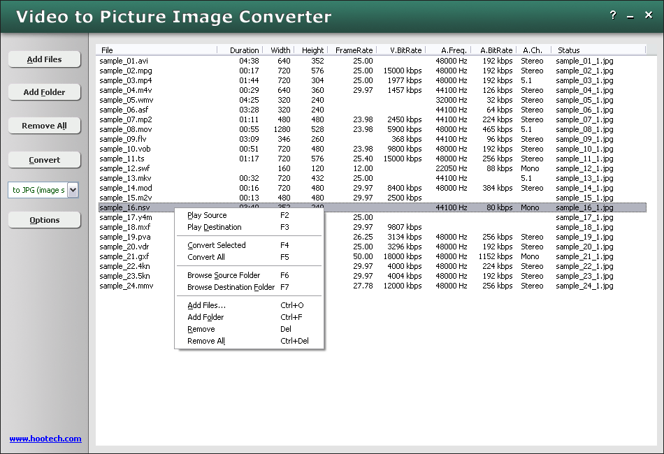 HooTech Video to Picture Image Converter 3.1 Build 1725