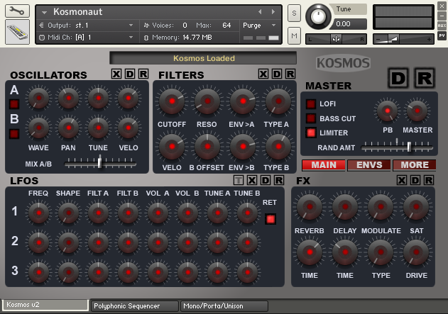 Homegrown Sounds Kosmos Classics KONTAKT