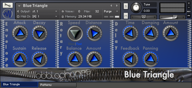Wobblophones Blue Triangle KONTAKT