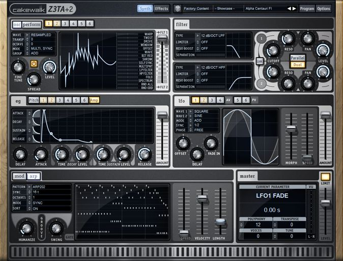 Cakewalk Z3TA Plus Waveshaping Synthesizer v2.1 Mac OS X