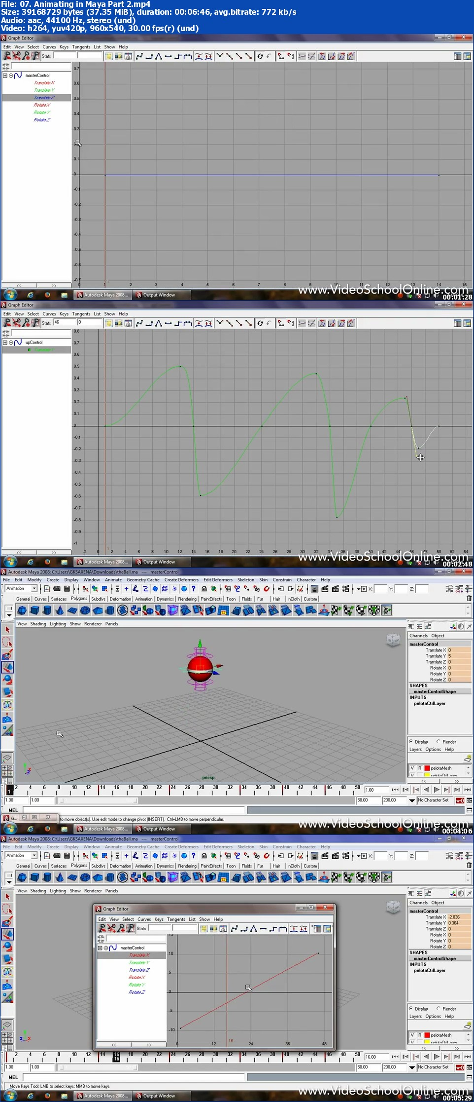 3D Animation and Visual Effects - Introduction to Maya