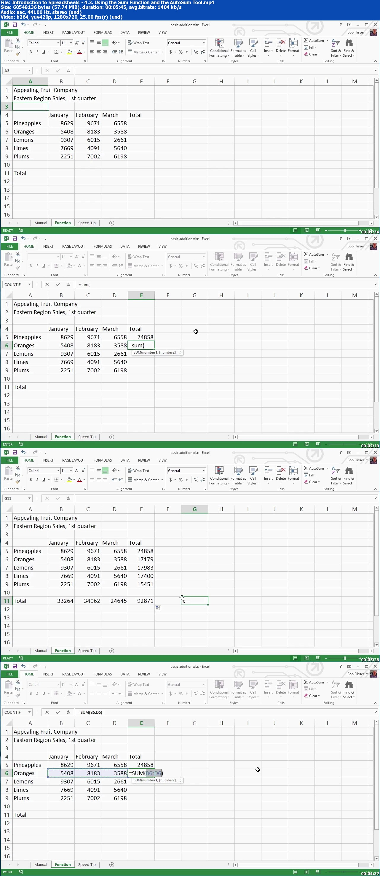 Tutsplus - Introduction to Spreadsheets