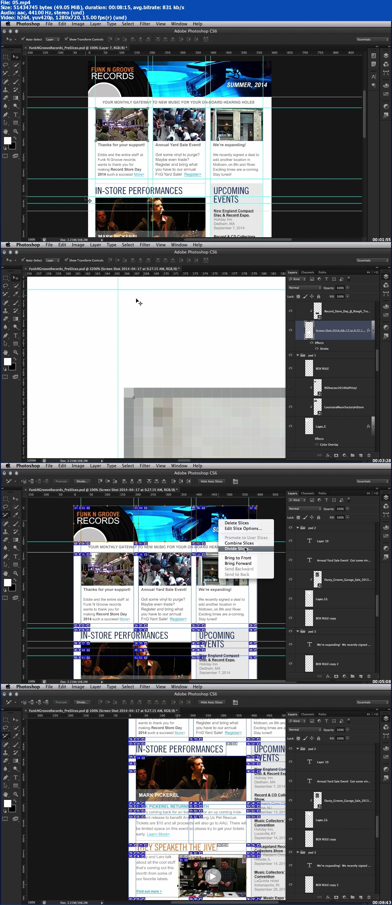 Dixxl Tuxxs - Creating an Email Newsletter in Photoshop and Dreamweaver