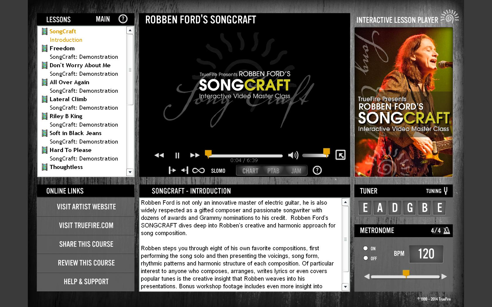 Truefire - Robben Ford's Songcraft (2013)