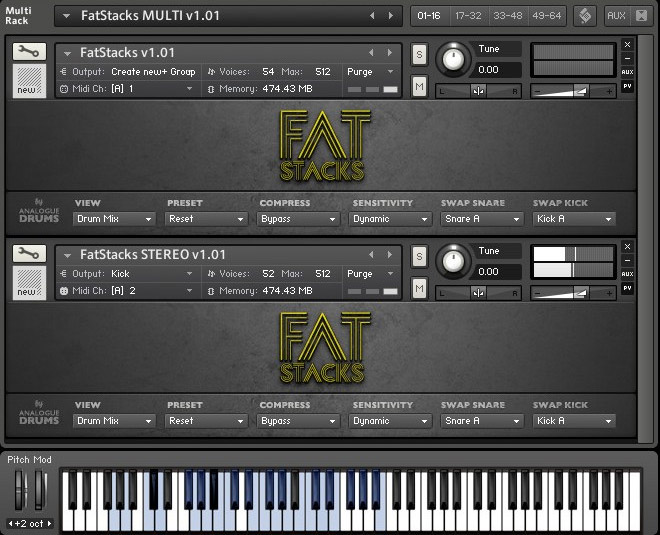 Analogue Drums Fat Stacks KONTAKT