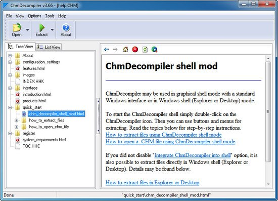 ChmDecompiler 3.66 Build 575