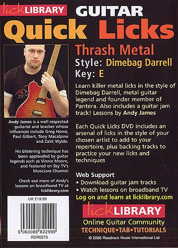 Andy James - Quick Licks Dimebag Darrell Thrash Metal Style Full 1 DVD