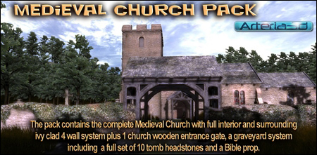 Arteria 3D Medieval Church Pack