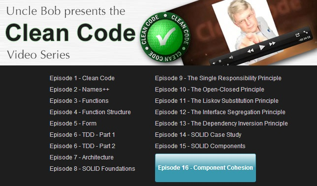 Clean Coders - Clean Code Video Series - Episode 1-23 Completed [Full HD] (2014)