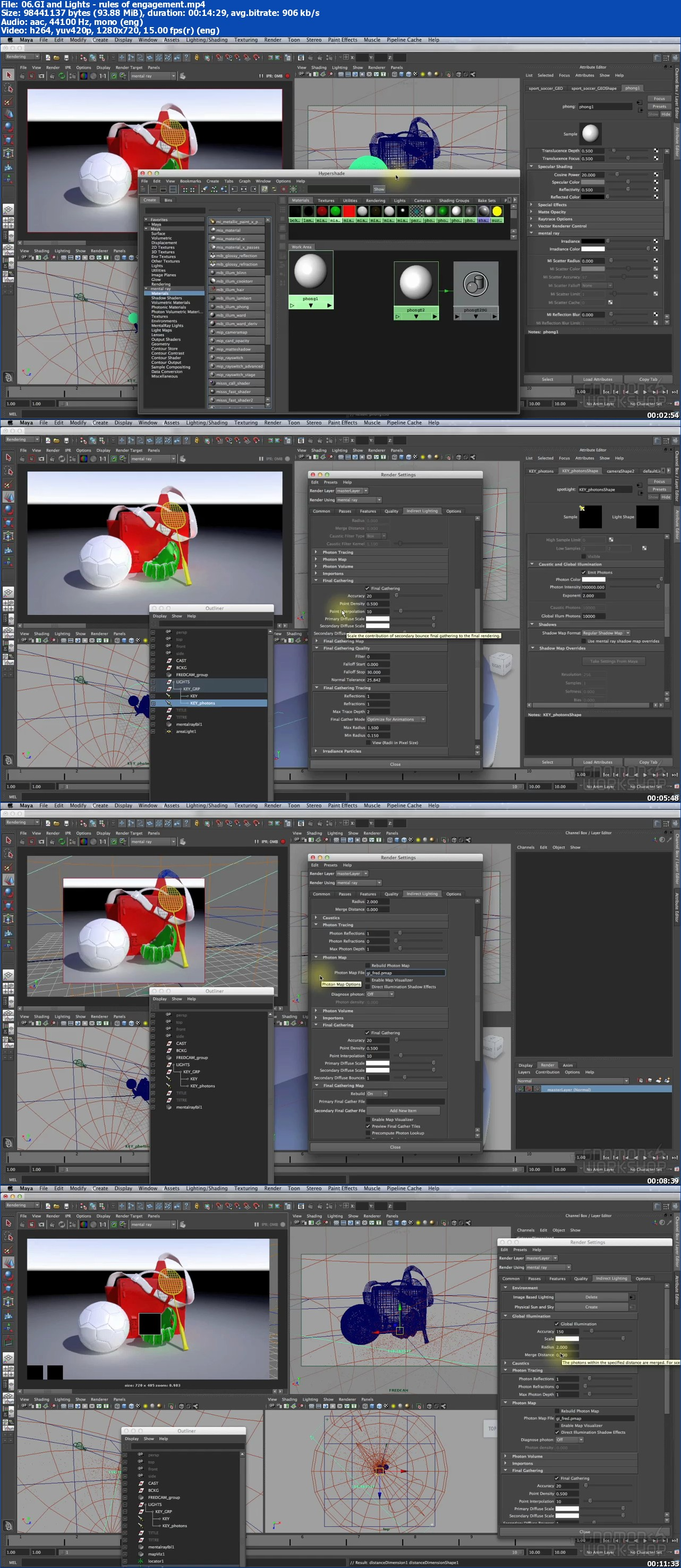 Global Illumination and Caustics in Maya and mental ray with Frederic Durand