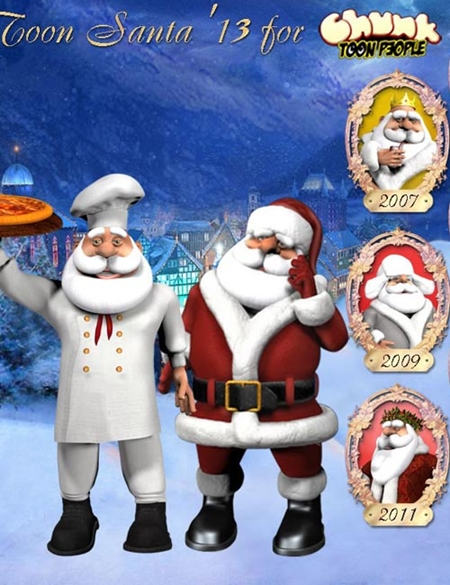 Toon Santa 2013 The Original Santa for Poser & DAZ Studio