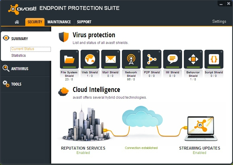 Avast! Endpoint Protection Suite 8.0.1603