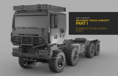 Gumroad - Recovery Truck Concept Part 1 by Kirill Chepizhko