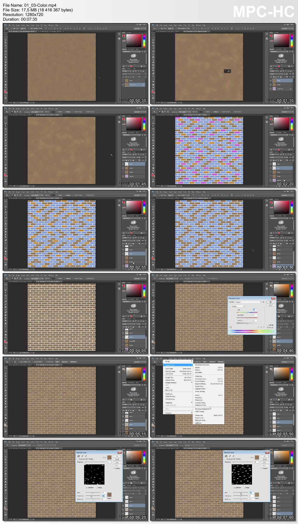 Lynda - Creating Textures: Brick and Brick-Bond Patterns