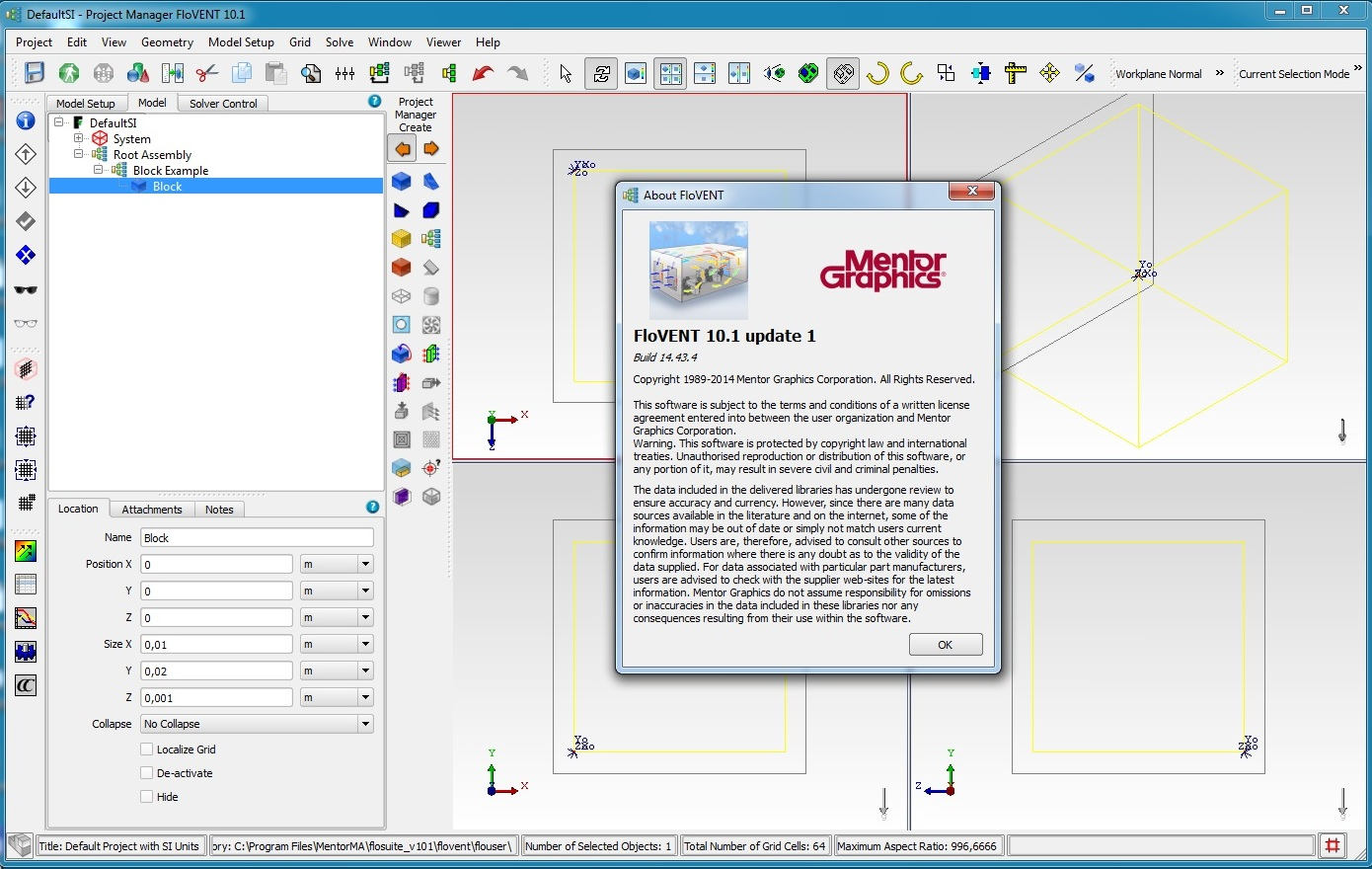 Mentor Graphics FloVENT 10.1 Update1
