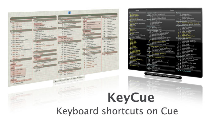 KeyCue v7.4 Multilingual Mac OS X