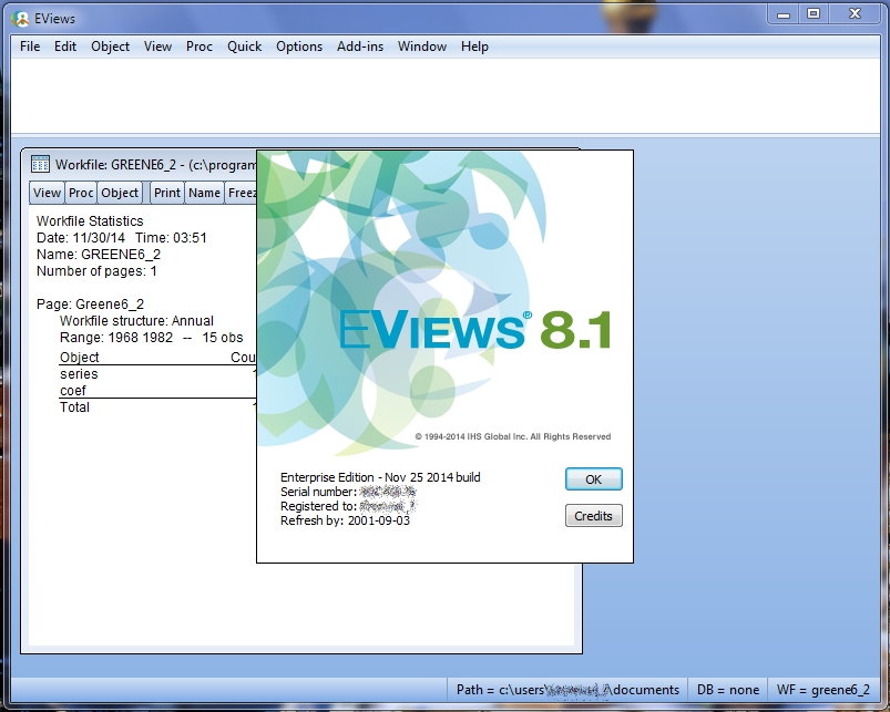 EViews 8.1 Enterprise Edition