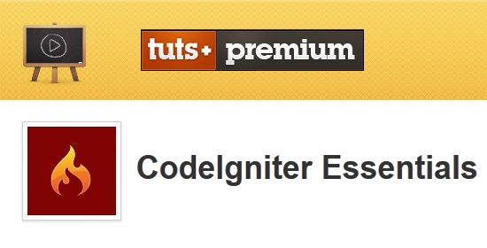 Tuts+ Premium - CodeIgniter Essentials