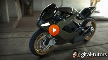 Dixxl Tuxxs - Modeling Advanced Surfaces to Create a Sci-Fi Motorcycle in Rhino