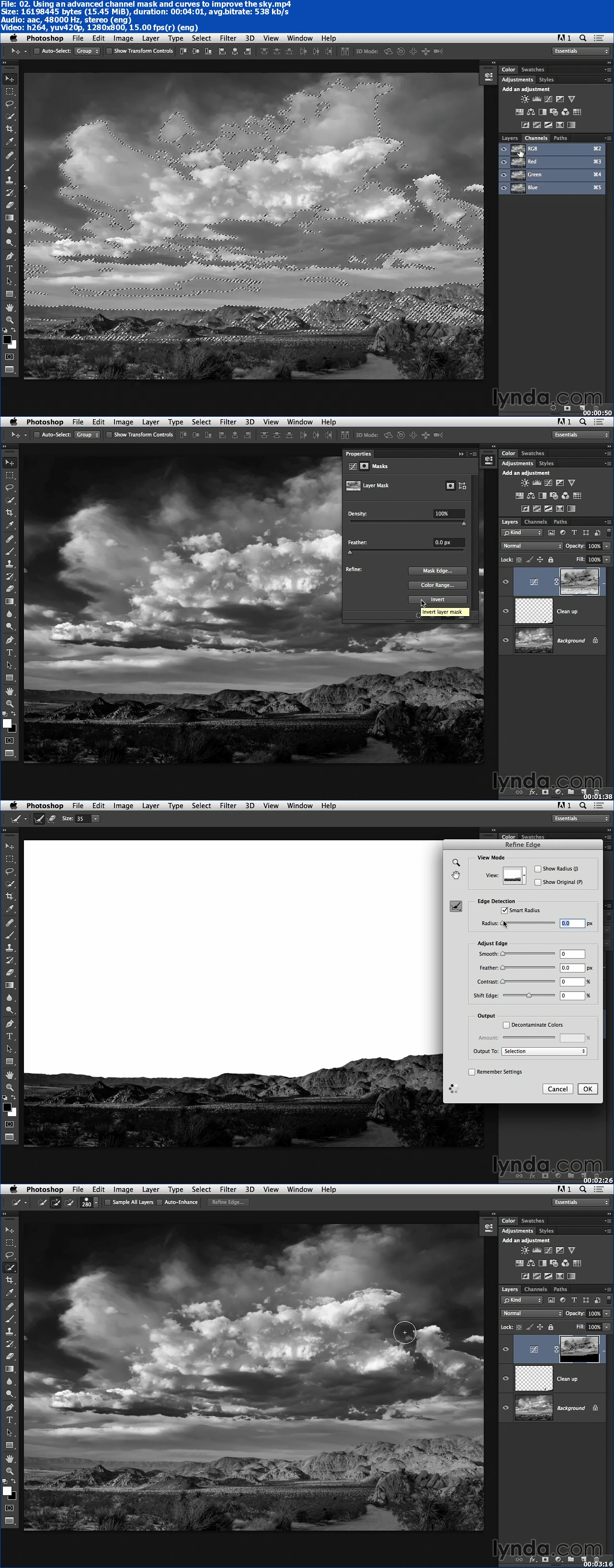 Lynda - Black-and-White Project: Creating a Dramatic Landscape with Lightroom and Photoshop