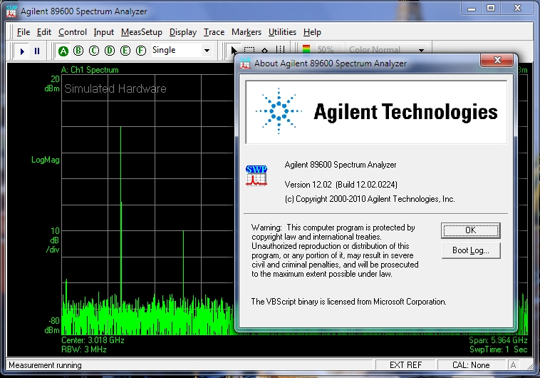 Agilent 89600 VSA Software, version 12.02