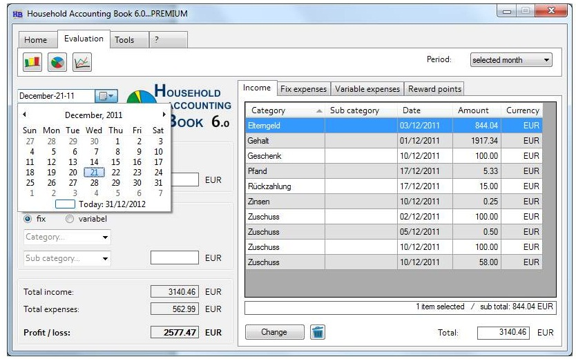 Household Accounting Book Premium v6.0.6 Multilanguage