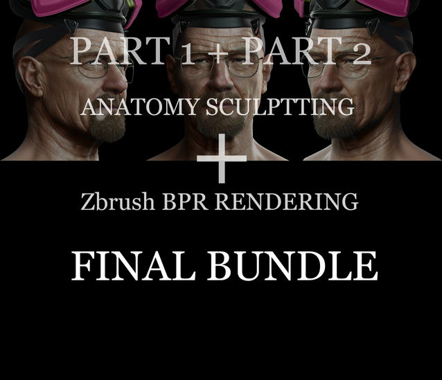 Gumroad - Anatomy Sculpting and ZBrush BPR Rendering Package by Frank Tzeng