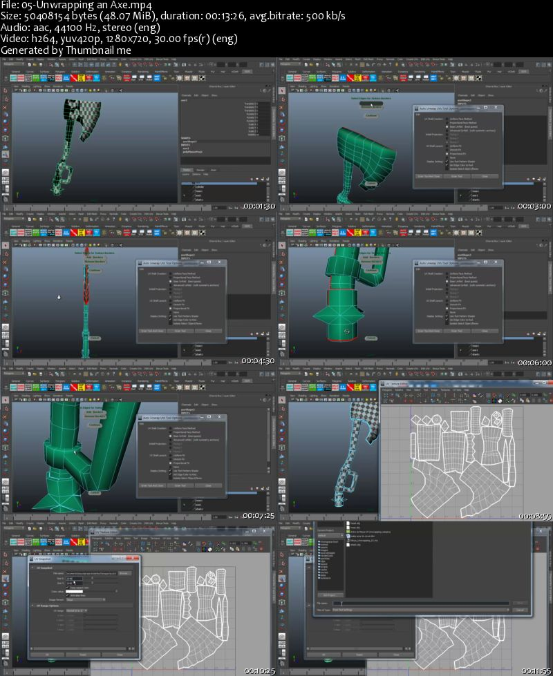 3DMotive – UV Unwrapping in Maya