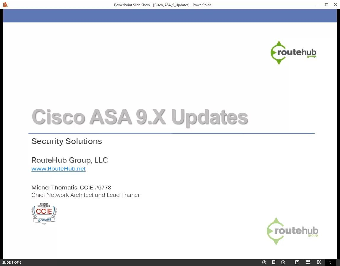 routehub - Cisco ASA and Next-Generation Firewall Training