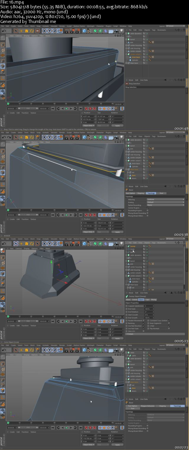 Modeling a Machine Gun Turret in CINEMA 4D R16
