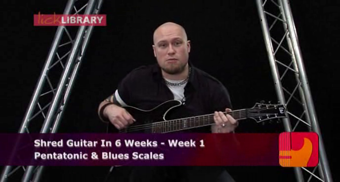 Lick Library - Shred Guitar In 6 Weeks - DVD/DVDRip (2010) [Repost]