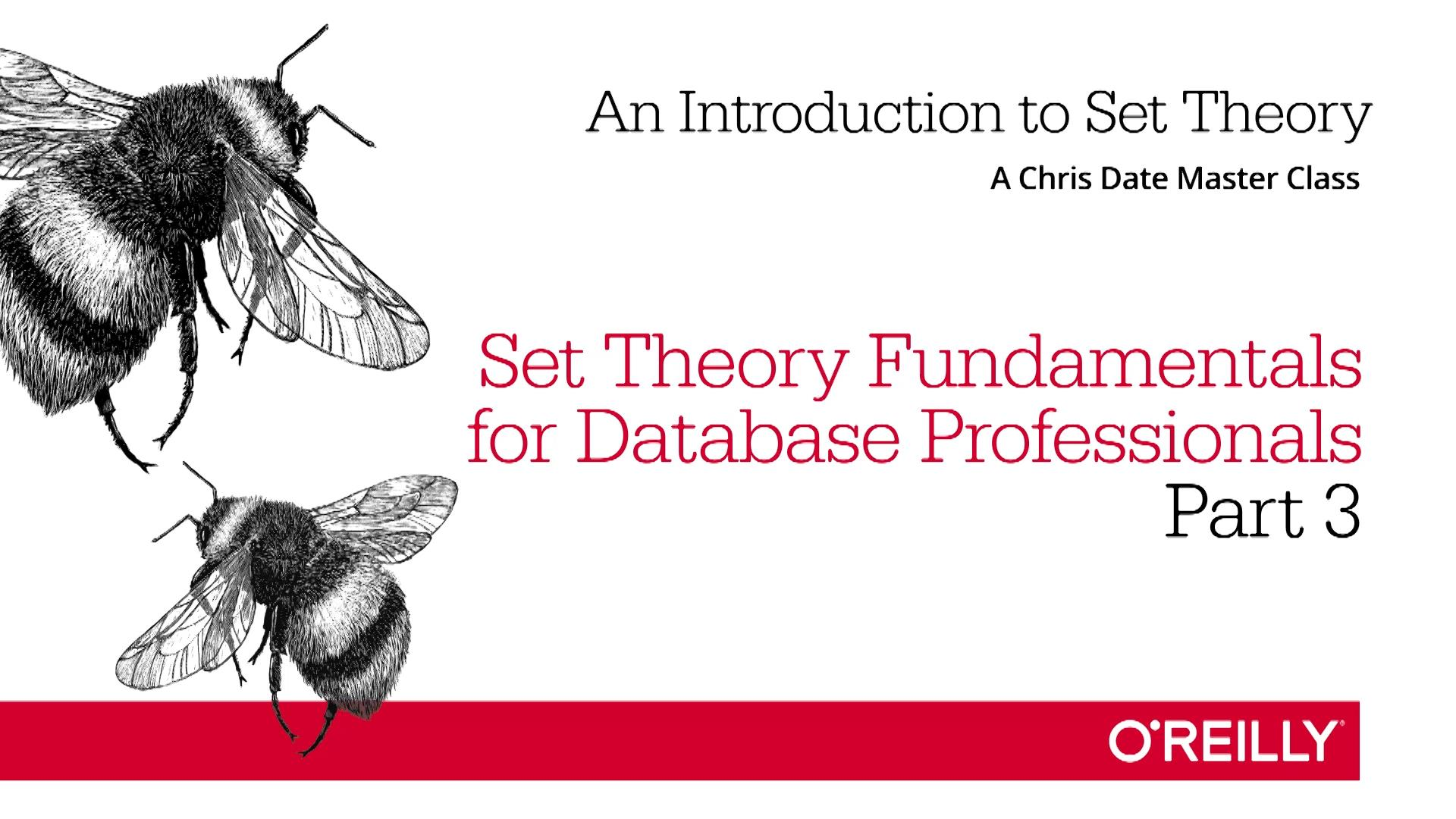 An Introduction to Set Theory: Set Theory Fundamentals for Database Professionals