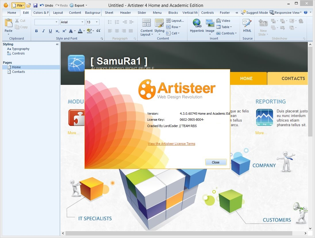 Artisteer Standard / Home and Academic 4.3.0.60745 Multilingual