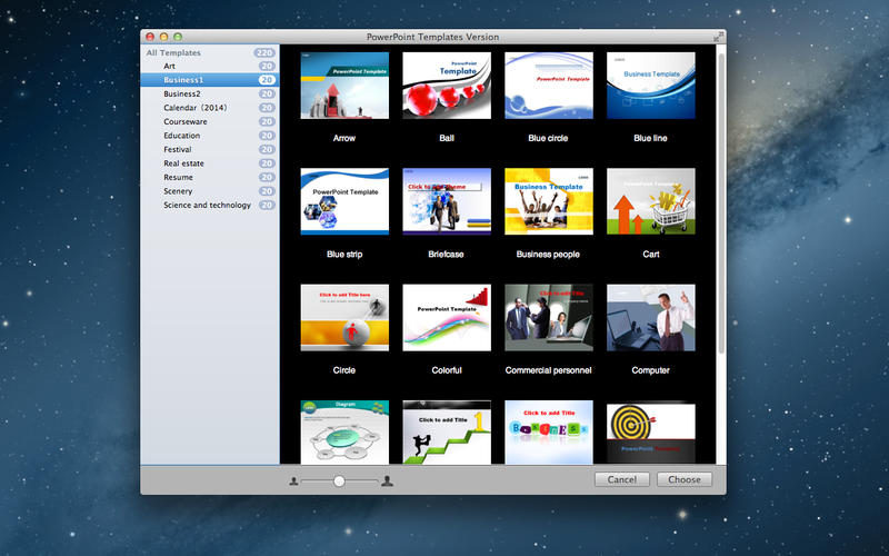 PowerPoint Templates Version v1.0 Mac OS X