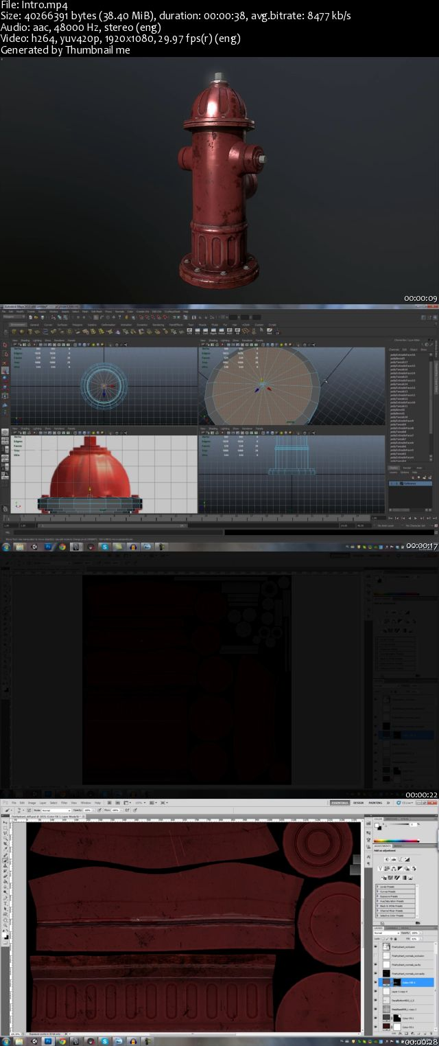 Sellfy - 3D game asset creation tutorial fire hydrant