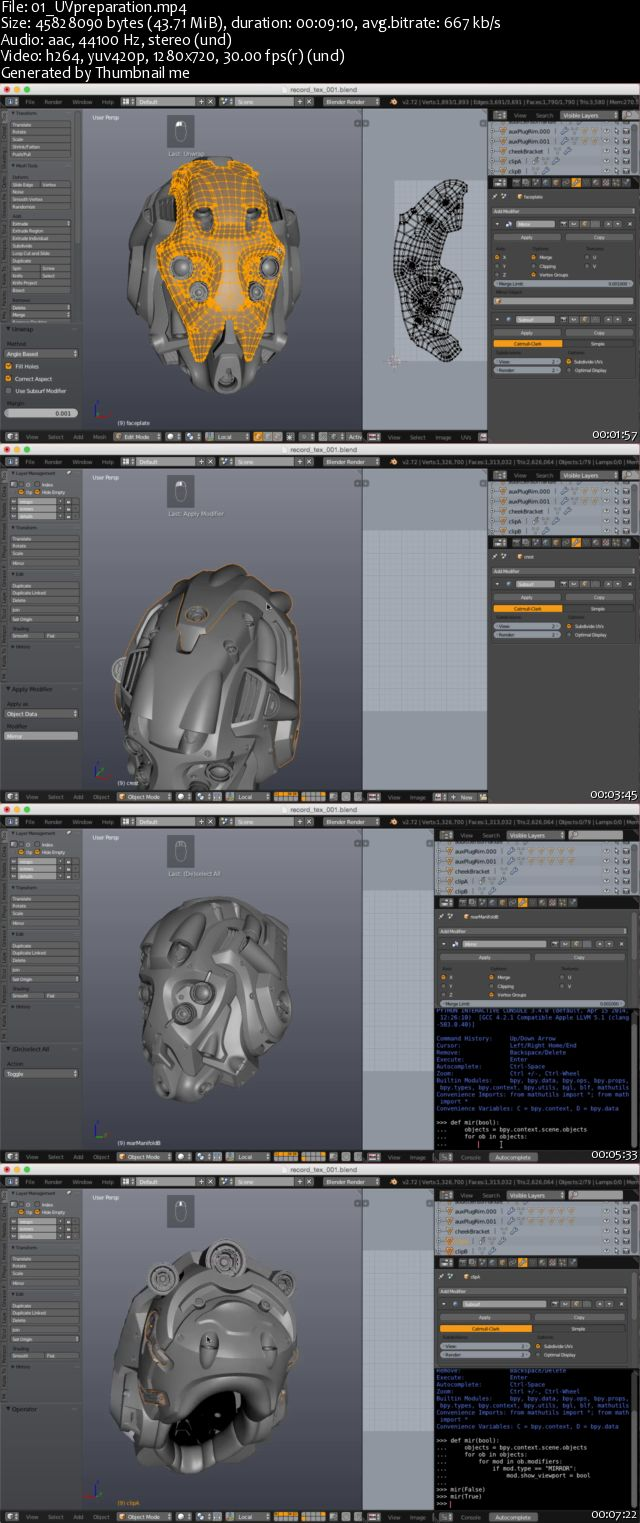 Blender Cookie - Texturing and Shading a Sci-Fi Helmet