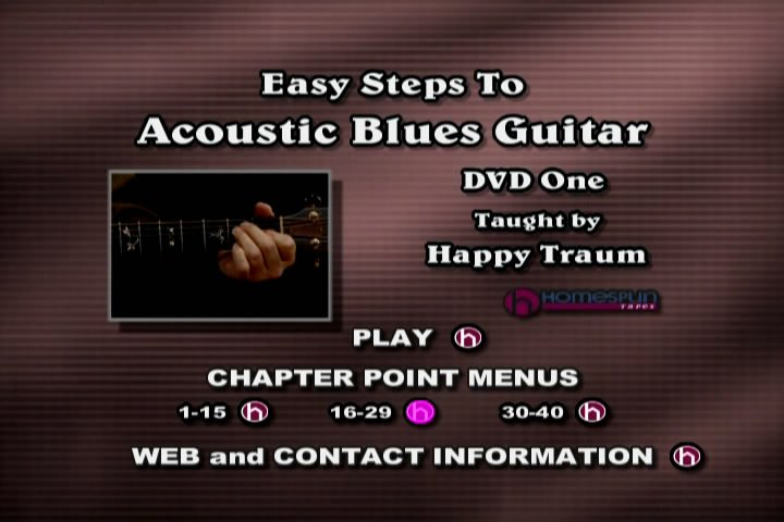 Easy Steps to Acoustic Blues Guitar - Two DVD Set
