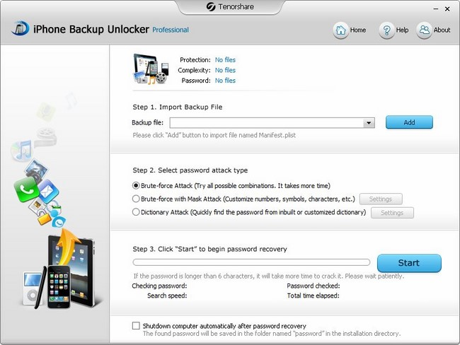 Tenorshare iPhone Backup Unlocker Professional 3.1.0.0