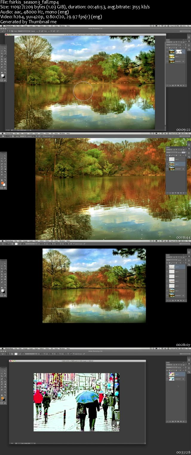 KelbyOne - Photoshop In Depth - Four Seasons: Fall [repost]