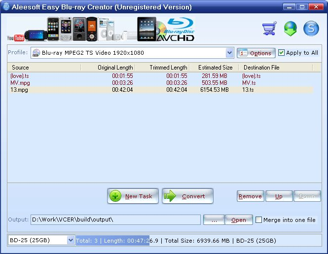 Aleesoft Easy Blu-Ray Creator v2.5.29