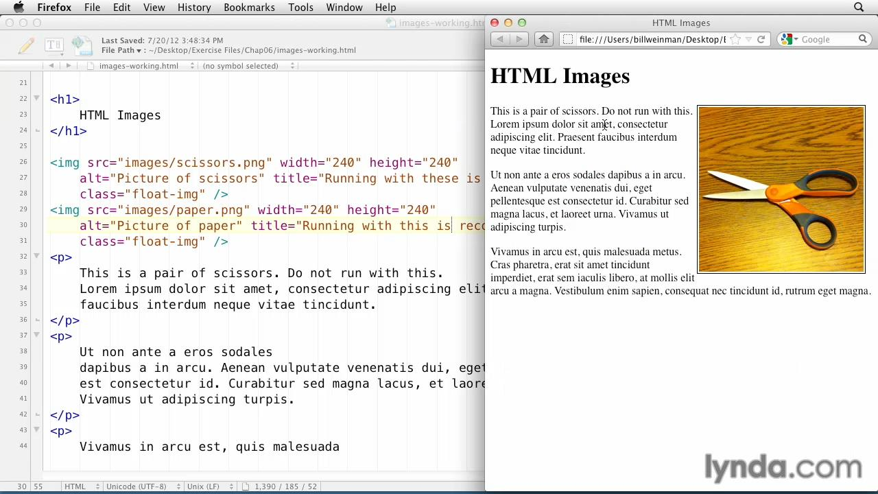 Lynda - HTML Essential Training (2012) with Bill Weinman