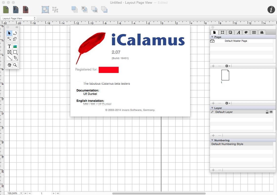 iCalamus 2.07 build 16451 Multilingual Mac OS X