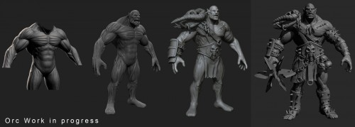 Gumroad - Iván Pérez Ayala - Orc Model (Work in progress)