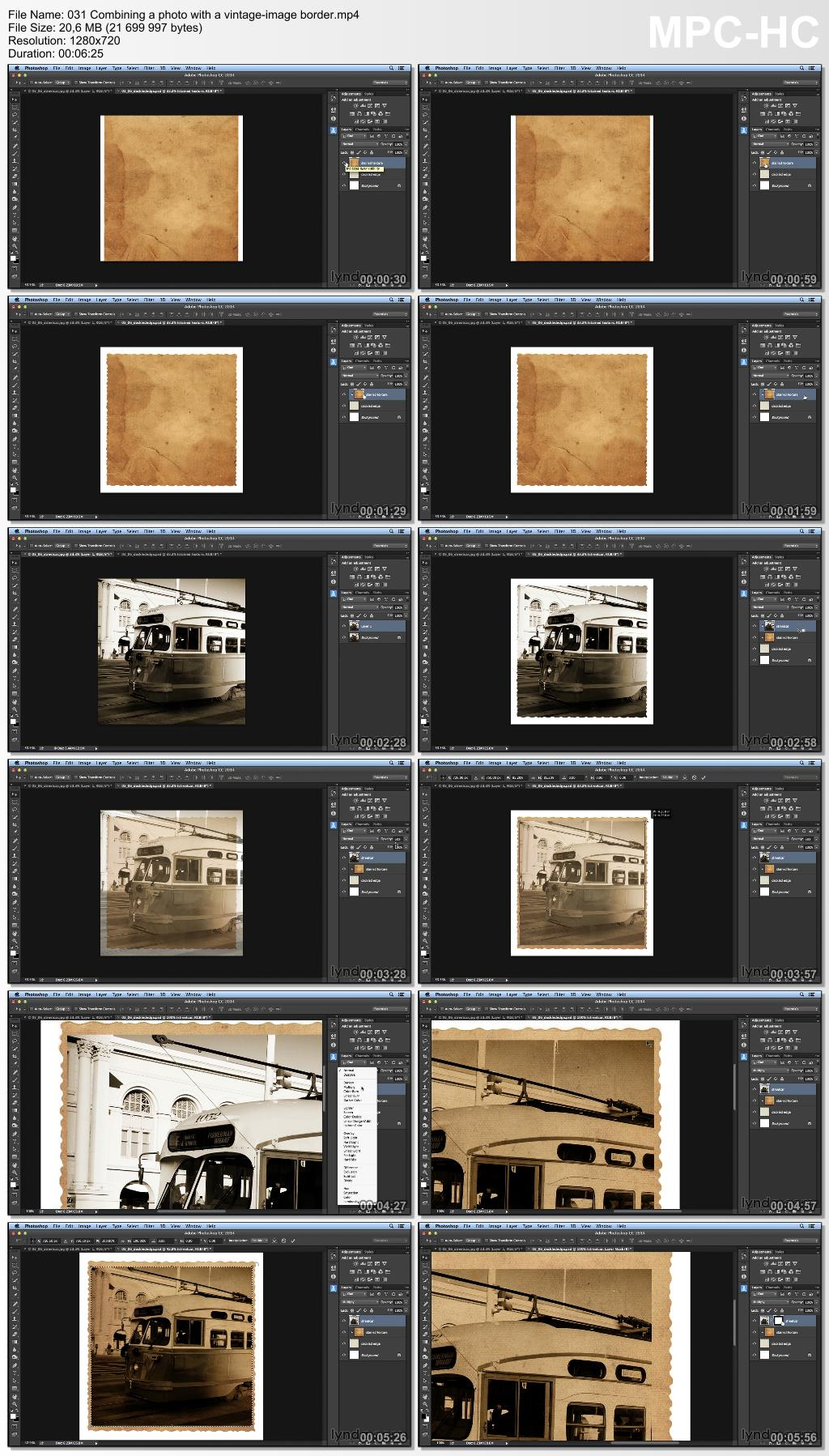 Lynda - Creating Distressed and Vintage Photo Effects with Photoshop