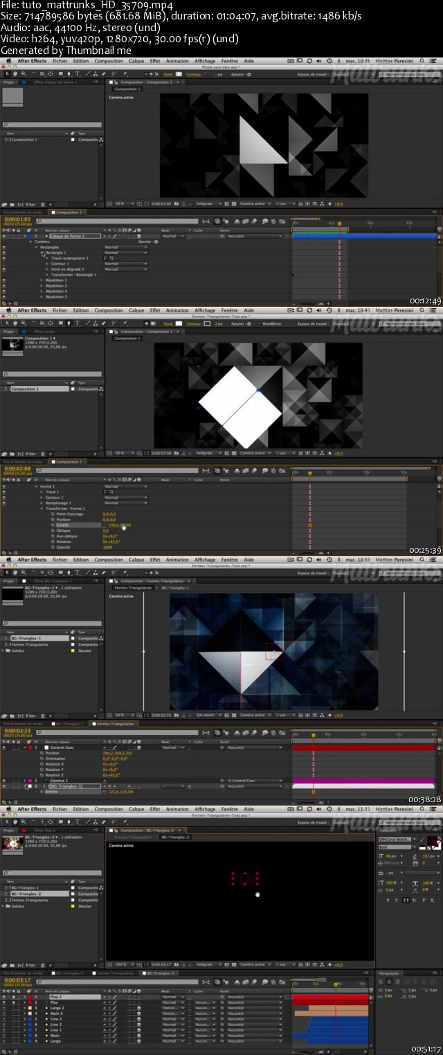 Matt Trunks - Isoscene: Animate a complex scene based on triangles in After Effects [Fr.]
