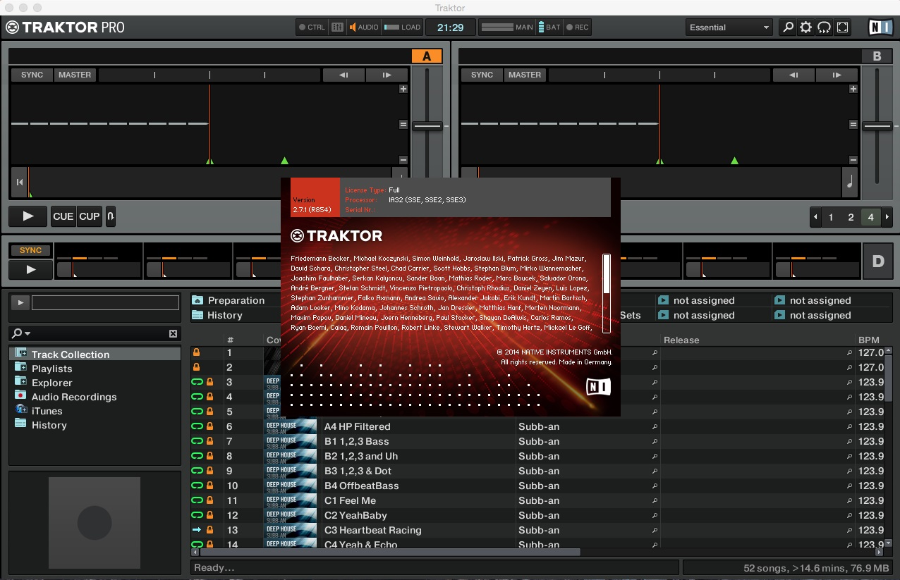 Native Instruments Traktor Pro 2 v2.7.1 Mac OS X