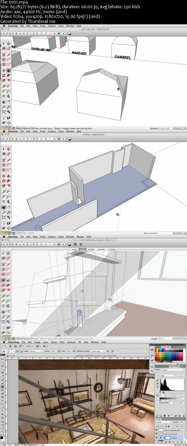 InfiniteSkills - Learning SketchUp Pro 2015 Training Video