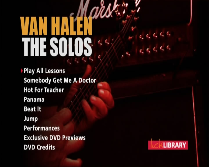 Learn to play Van Halen - The Solos