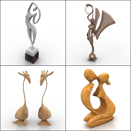 3D Models Figurines 4x3Dmax