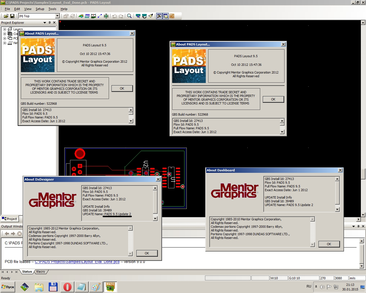 Mentor Graphics PADS 9.5 Update2